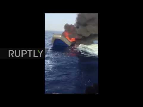 Libya: Migrant boats reportedly burnt by Libyan coastguard in the Med.