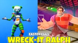 Wreck It Ralph Dancing HOT MARAT EMOTE & Traveling (Easter Eggs) Fortnite Battle Royale