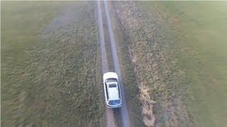 HD Car Chase with an FPV video Quadcopter drone
