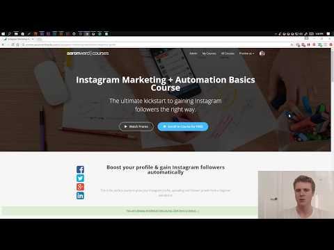 Free Instagram Marketing Course + Automation Basics