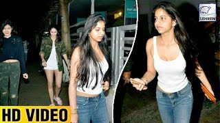 Shah Rukh's Daughter Suhana Khan CAUGHT Late Night With Freinds | LehrenTV
