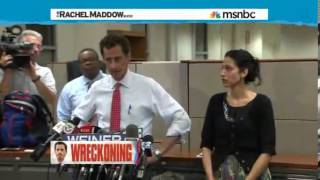Rachel Maddow DESTROYS Anthony Weiner Redemption Tour He Lied, Apologized, Then Kept Lying