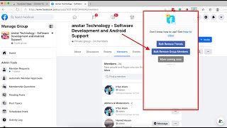 100% Working: How to Bulk Remove Member From Facebook Group and Delete - Check Description 4 Update