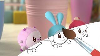 Малышарики - Раскраска для детей - Башня (Учим цвета с малышами)