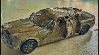 Restoration Rolls Royce car old | Rusty model car