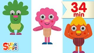 Head Shoulders Knees And Toes | + More Kids Songs | Featuring Noodle & Pals
