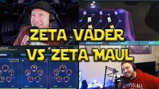 Star Wars: Galaxy Of Heroes - Zeta Vader VS Zeta Maul - Zeta Barris FTW