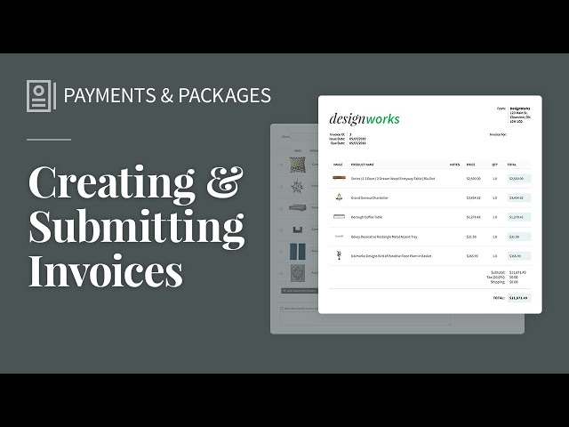 Creating & Submitting Invoices