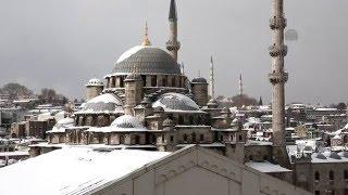 Snowfall in Istanbul