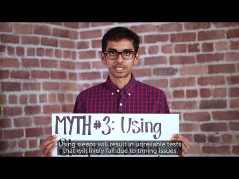Sauce Labs Automated Testing Mythbusters - Sleeps Are Not The Answer Related YouTube Video