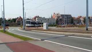 preview picture of video 'Tramway de la côte (Kusttram) à Nieuwpoort'