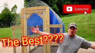 The Best Chicken Tractor Design On Youtube!!!
