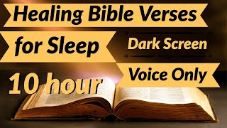 Healing Bible Verses For Sleep Voice Only *10 Hour Relaxation Music* -