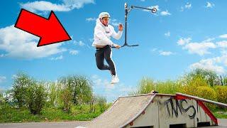 10 Scooter Tricks im Skatepark in 10 Minuten lernen!