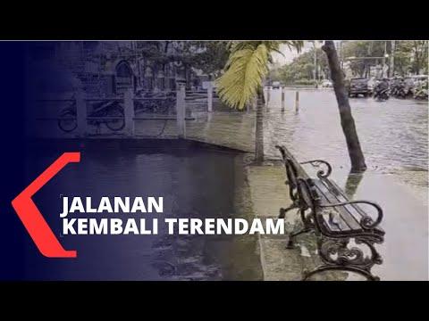 Belum Surut, Banjir 30 Cm Kembali Rendam Jalanan Banjarmasin