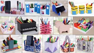 17 Cool Stationary DIYs Pen Stand Ideas.... Best Out Of Waste