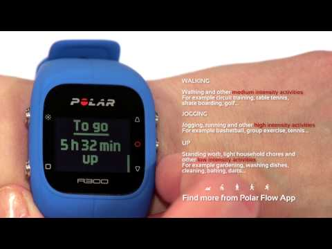 Tracking activity with Polar A300