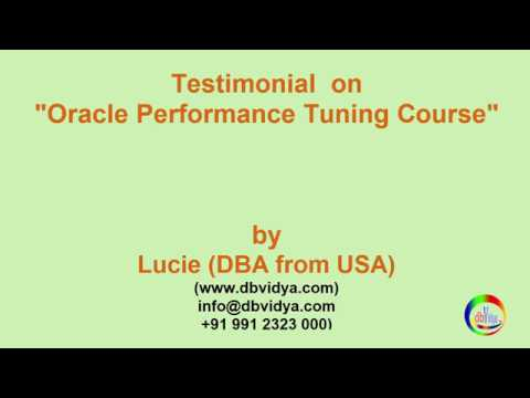Oracle Performance Tuning Testimonial from Oracle DBA