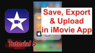 How to Export & Upload to YouTube in iMovie App 2.2.3
