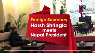 Foreign Secretary Harsh Shringla meets Nepal President - Download this Video in MP3, M4A, WEBM, MP4, 3GP