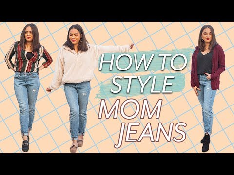 7 WAYS TO STYLE MOM JEANS // MOM JEANS OUTFIT IDEAS ♡