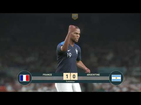 Gameplay JVL sur PES 2019 (France -Argentine; 2e match) de Pro Evolution Soccer 2019