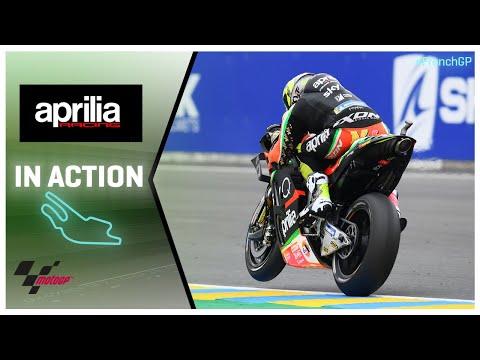 Aprilia in action: SHARK Helmets Grand Prix de France