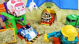 Police car toys friends construction play