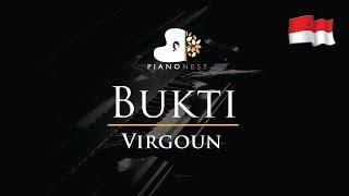 Virgoun   Bukti   Piano Karaoke  Sing Along  Cover With Lyrics