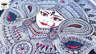Hindu Goddess Durga Doodle Art   Maa Durga  Zentangle Art/Mandala Art   Art Print   CraftsLane