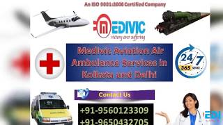 Get Urgent ICU Evacuation Air Ambulance Services in Kolkata by Medivic