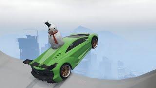 GTA 5 Winter Stunts/Jumps compilation vol.1 [Mega Ramps]