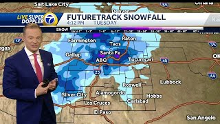 Cold & strong storm hits on New Year's Day
