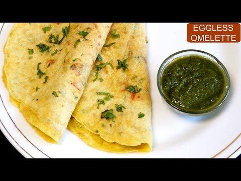 Eggless Omelette Recipe | Vegetarian Omelette | CookWithNisha