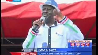 Raila Odinga pledges to construct a bridge connecting Budalangi and Funyula regions