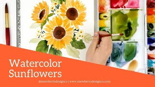 How to Paint A Loose #Sunflower Bouquet | #WATERCOLOR #TUTORIAL