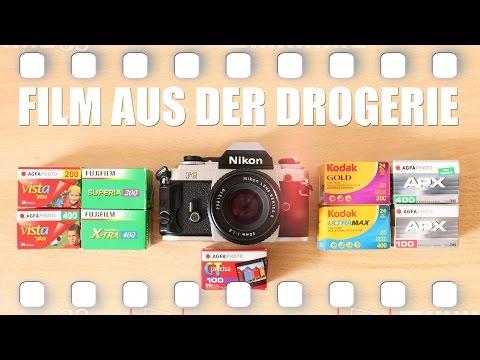 Analog Film aus dem Drogeriemarkt - was gibt es in DM, Rossmann und Müller? 🎞 Flanell, Kameras