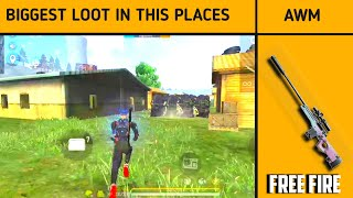 Top 3  best looting places in free fire | Best loot for free fire game