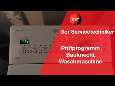 Bauknecht Whirlpool Prüfprogramm Service Mode