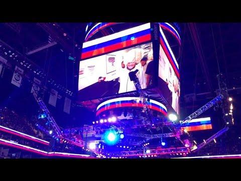 Sabine Kors sings her song at UFC 223 (Khabib walkout)