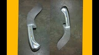 Fabricando um cabo de faca usando restos de alumínio. Através do processo de fundição em areia verde