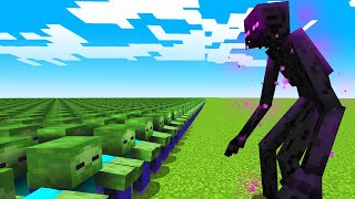1000 Zombies vs Mutant Enderman!