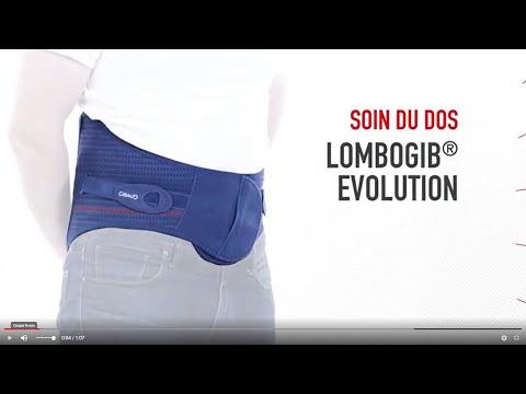 Gibaud - Lombogib Evolution - Ceinture De Soutien Lombaire - Bleu - Taille 1 - Hauteur 26cm