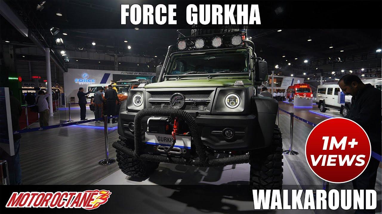 Motoroctane Youtube Video - Force Gurkha Modified - Ye Gurkha Gym Gya Tha ! | Auto Expo 2020 | Hind | Motoroctane