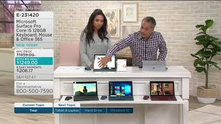 2017 Microsoft Surface Pro Core i5 128GB Keyboard, Mouse & Office 365 on QVC