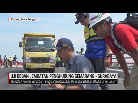 Uji Beban Jembatan Penghubung Semarang - Surabaya