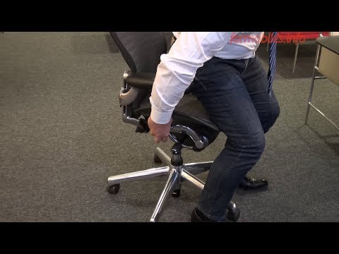 Herman Miller Aeron - Come regolare in dettaglio la seduta