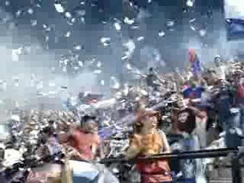 """""""Entrada del uam vs monagas"""" Barra: Guerreros Chaimas • Club: Monagas"""