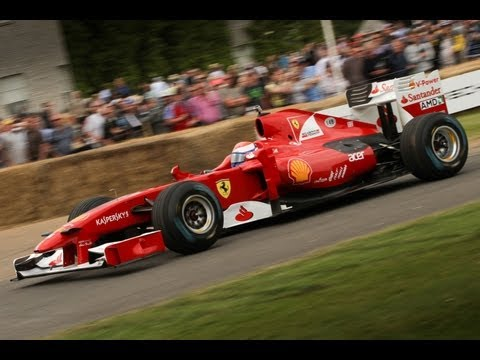 F1 Cars Tackle The Goodwood Hill Climb