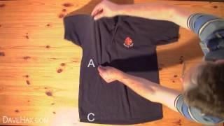 Смотреть Как сложить рубашку за 2 секунды How to Fold a Shirt in Under 2 Seconds
